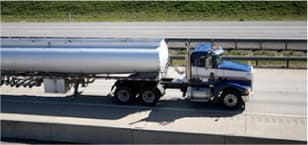 Photo of fuel tanker truck on highway